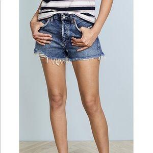 Agolde Parker vintage loose fit denim shorts